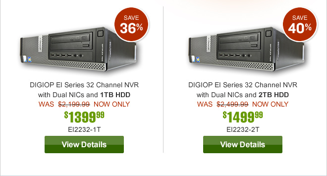 DIGIOP EI Series 32 Channel NVR