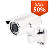 60 ft IR 4-9 mm Varifocal Outdoor Bullet Security Camera