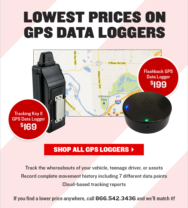 Lowest Prices on GPS Data Loggers! Tracking Key II GPS Data Logger start at only $169
