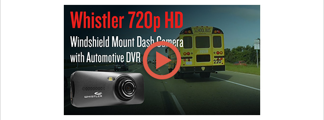 Whistler 720p Full-HD Windshield Mount Dash Camera with Automotive DVR