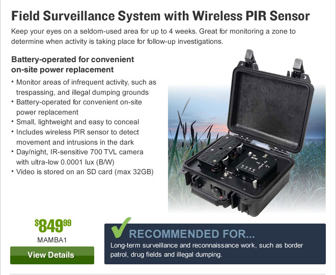 Field Surveillance System with Wireless PIR Sensor