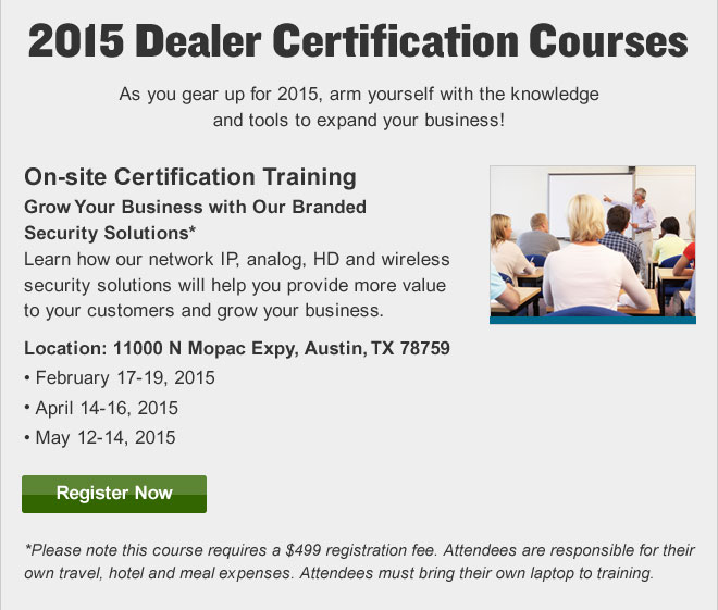 2015 Dealer Certification Courses
