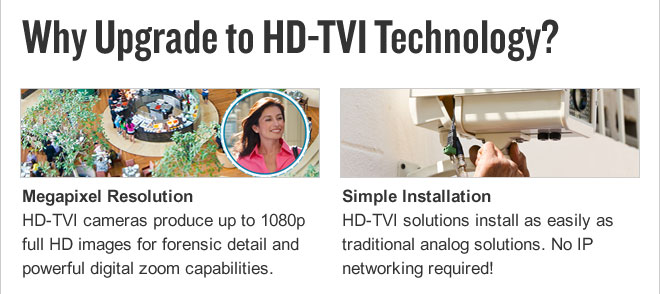 Why Upgrade to HD-TVI Technology?
