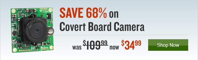 SAVE 68% on Covert Board Camera $109.99 to $34.99
