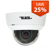 BLACK Indoor 700 TVL Varifocal Day/Night Dome Camera
