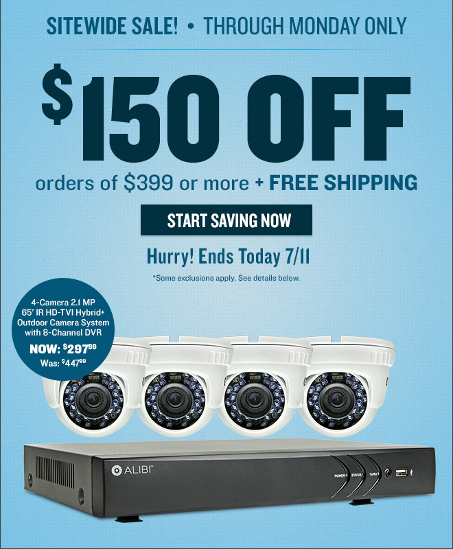 Big Savings End Tomorrow! $150 Off Orders of $399 or More, + Free Shipping