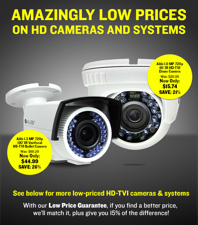 Amazingly Low Prices On HD Cameras and Systems!