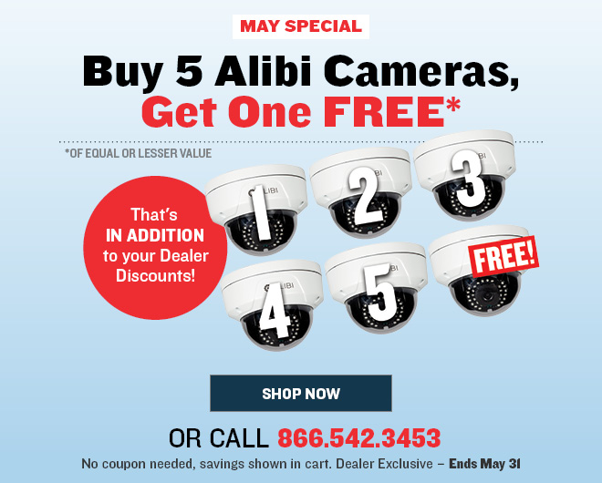 Save up to 25 percent on Alibi IP Cameras
