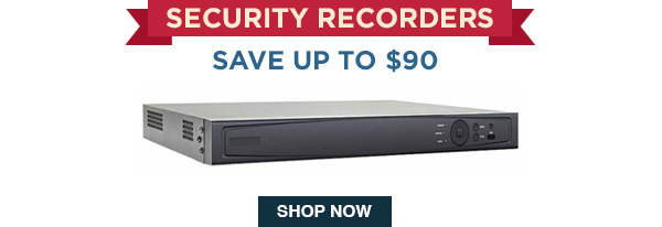 Security recorders save up to $90