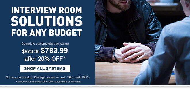 Interview Room Solutions for Any Budget - Shop All Systems