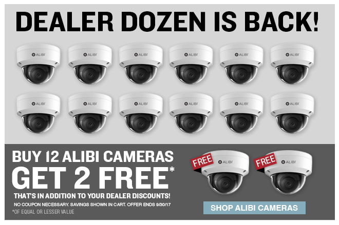 Dealer Dozen is Back! Buy 12 Alibi Cameras and Get 2 Free - Shop Alibi Cameras