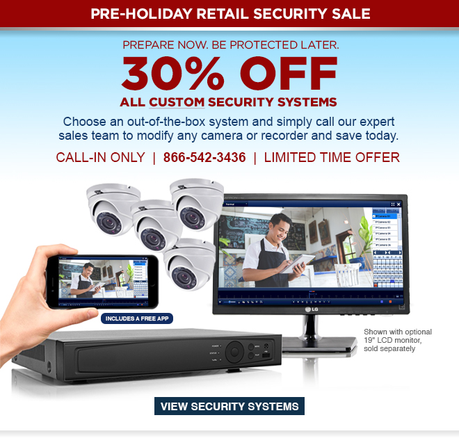 30% Off All Custom Security Systems. View Security Systems.
