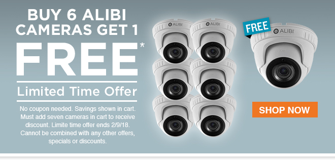 Buy 6 Alibi Cameras, Get 1 FREE! Shop Now.