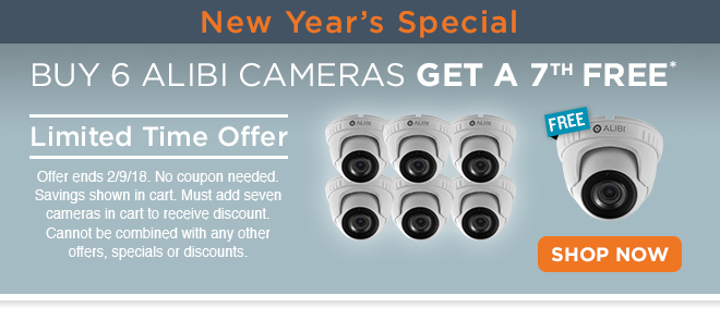 Buy 6 Alibi Cameras Get a 7th Free! Shop Now