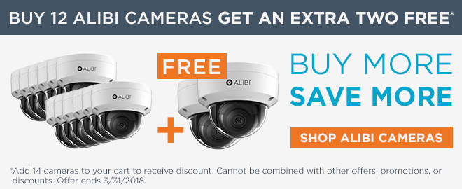 Buy 12 Alibi cameras get two more free