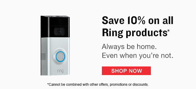 10% off all Ring Products