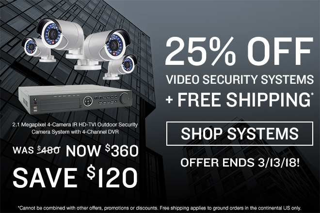 25% off security systems