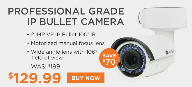 Professional grade IP bullet camera